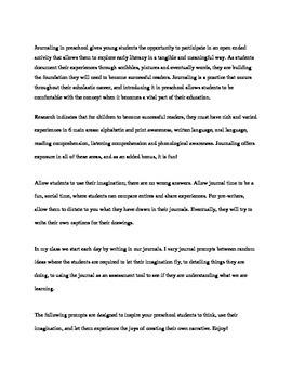 Journal Prompts Preschool