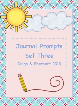 Journal Prompts - Set Three - Intermediate Grade Level - {
