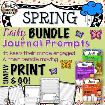 Journal Prompts - Spring Bundle