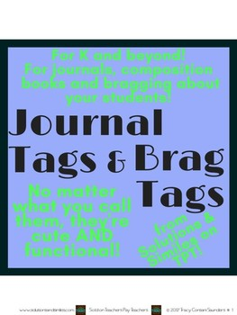 Journal Tags, Brag Tags, YOUR Tags!