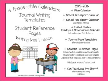 Journals Through the Year {Writing Templates & Trace-able