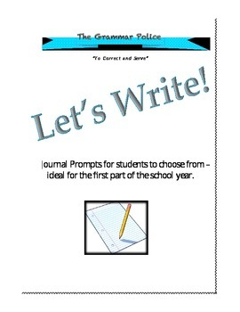 Journal Writing Prompt Choices