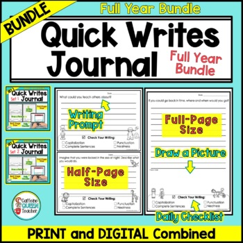 Writing Prompts Journal For Daily Writing - Year Long Journal