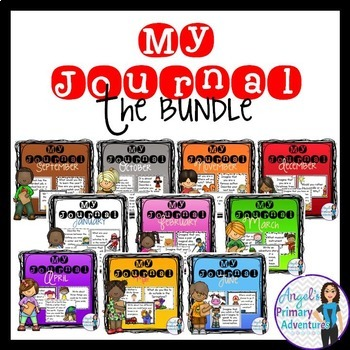 Journal Writing Prompts Year Long Bundle