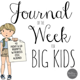 Journal of the Week for Grades 4-8 Common Core Aligned