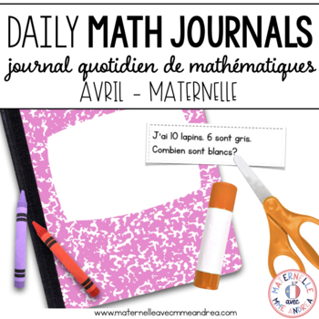 Journal quotidien de maths - avril (French Math Journal Pr