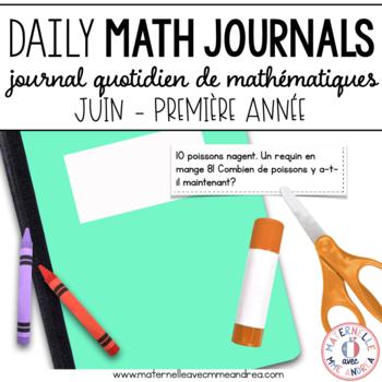 Journal quotidien de maths - juin(French Grade 1 June Math