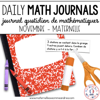 Journal quotidien de maths - novembre (French Math Journal