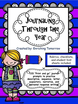Journaling Through the Year - Printable prompts, rubrics,