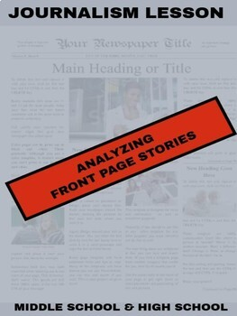 Journalism - Analyzing Front Page Stories