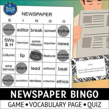 Newspaper Vocabulary Bingo