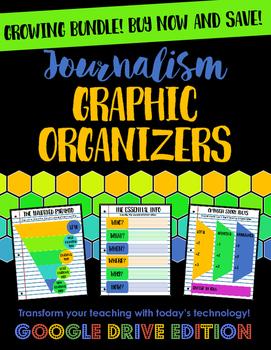 Journalism Graphic Organizers Growing Bundle Google Drive Edition