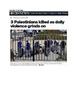 Journalism: Media Bias in Headlines (Uses Israel/Palestine