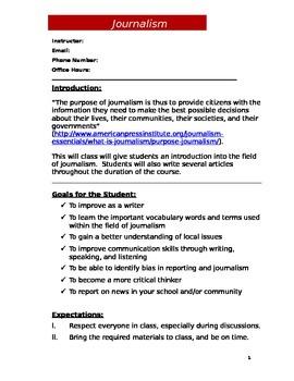Journalism Syllabus (Doc)