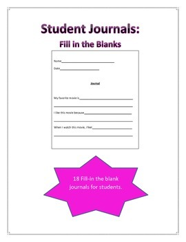 Journals_Fill-in the Blanks