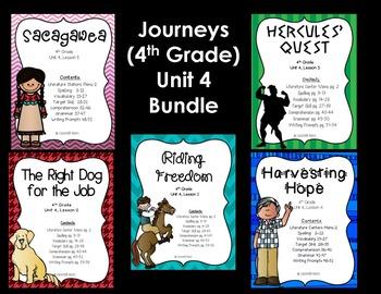 Journeys 4th Grade Unit 4 Bundle
