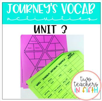 Journey's 5th Grade Vocabulary Activities Unit 3