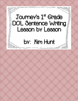 Journey's First Grade Daily Proofreading Practice D.O.L.