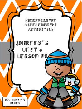Journey's Kindergarten Unit 3 Lesson 11 Supplemental Activities
