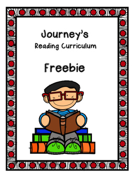 Journey's Reading Curriculum Freebie
