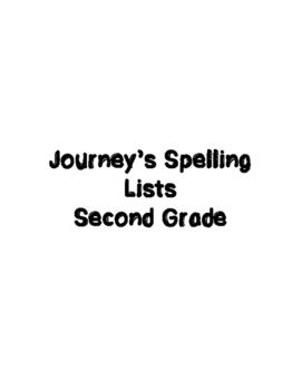 Journey's Spelling Lists 1-30