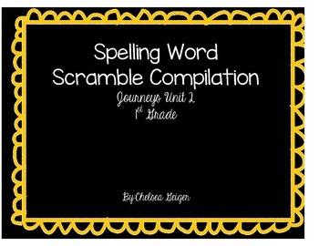 Journey's Unit 2 Spelling Word Scramble