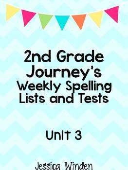 Journey's Unit 3 Spelling Bundle