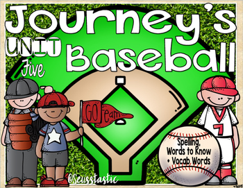 Journeys (Unit Five) Baseball (50% off for 48 hours only!)
