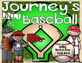 Journeys (Unit One) Baseball (50% off for 48 hours only!)