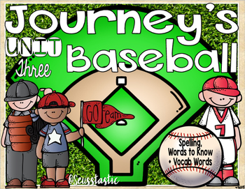 Journeys (Unit Three) Baseball (50% off for 48 hours only!)