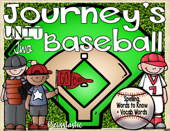 Journeys (Unit Two) Baseball (50% off for 48 hours only!)