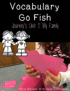 Vocabulary Go Fish: My Family (Used with Journeys)