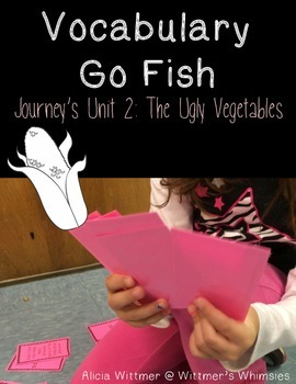 Vocabulary Go Fish: The Ugly Vegetables (Used with Journeys)