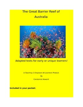 Journey to The Grea Barrier Reef!