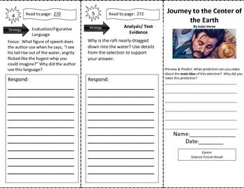 Journey to the Center of the Earth Close Read Trifold Read