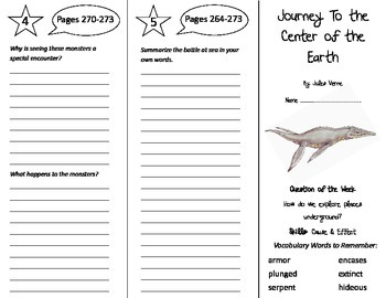 Journey to the Center of the Earth Trifold - Reading Stree