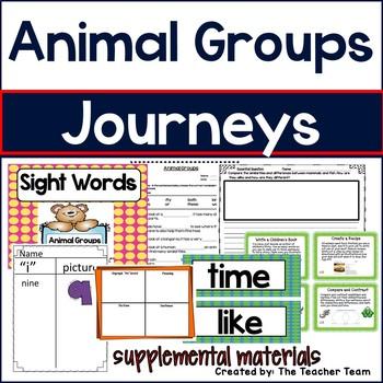 Animal Groups Journeys 1st Grade Supplemental Materials
