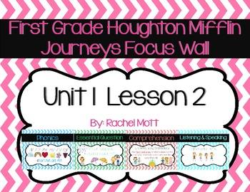 Journeys 1st Grade Focus Wall Unit 1 Lesson 2 Chevron