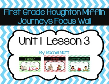 Journeys 1st Grade Focus Wall Unit 1 Lesson 3 Chevron