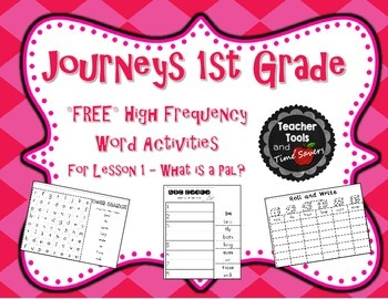 Journeys 1st Grade High Frequency Words Activity Pack - FR