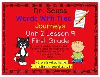 Journeys 1st Grade Reading Unit 2 Lesson 9 Dr. Seuss Letter Tiles