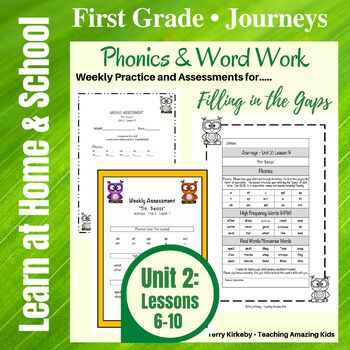 Journeys - 1st Grade/Unit 2 - Word Work Practice & Quick A