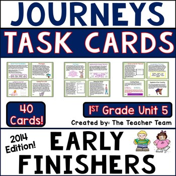 Journeys 1st Grade Unit 5 Early Finishers Task Cards