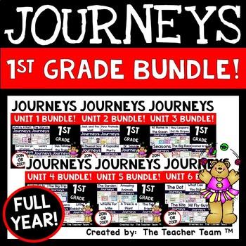 Journeys 1st Grade Units 1-5 Full Year Bundle Common Core 2014