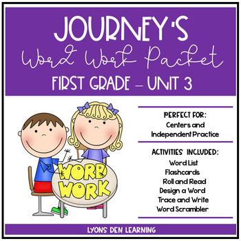 Journey's 1st Grade Word Work Practice and Center Activiti