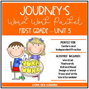 Journey's 1st Grade Word Work Practice and Center Activiti