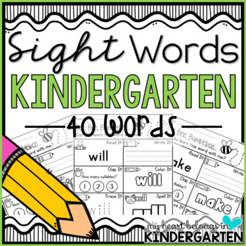 Journey into Reading {40 Sight Word Printables}