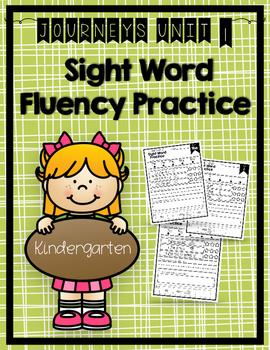 Journeys 2014 & 2017 Sight Word Activities & Fluency Kinde