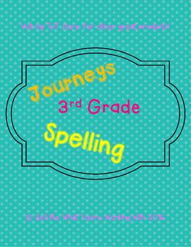 3rd Grade Journeys 2014 Spelling (Lessons 1-30)
