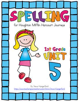 Journeys (2014, 2017 Editions), 1st Grade Spelling Materia